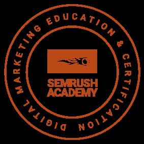 SemRush Academy Badge for Digital Marketing Services