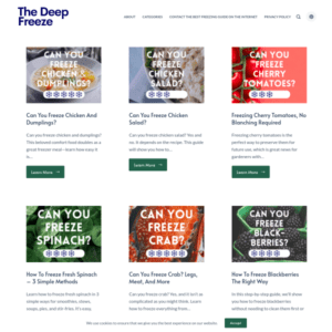 The Deep Freeze Guide website